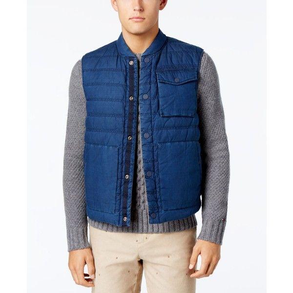 Tommy Hilfiger Men's Reversible Nelson Vest ($65) ❤ liked on ... : tommy hilfiger quilted vest - Adamdwight.com