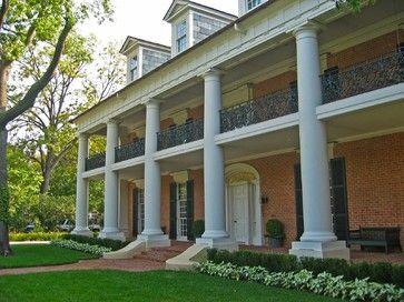 Greek Revival Landscape Design Ideas Pictures Remodel And Decor Greek Revival Home Greek Revival Architect