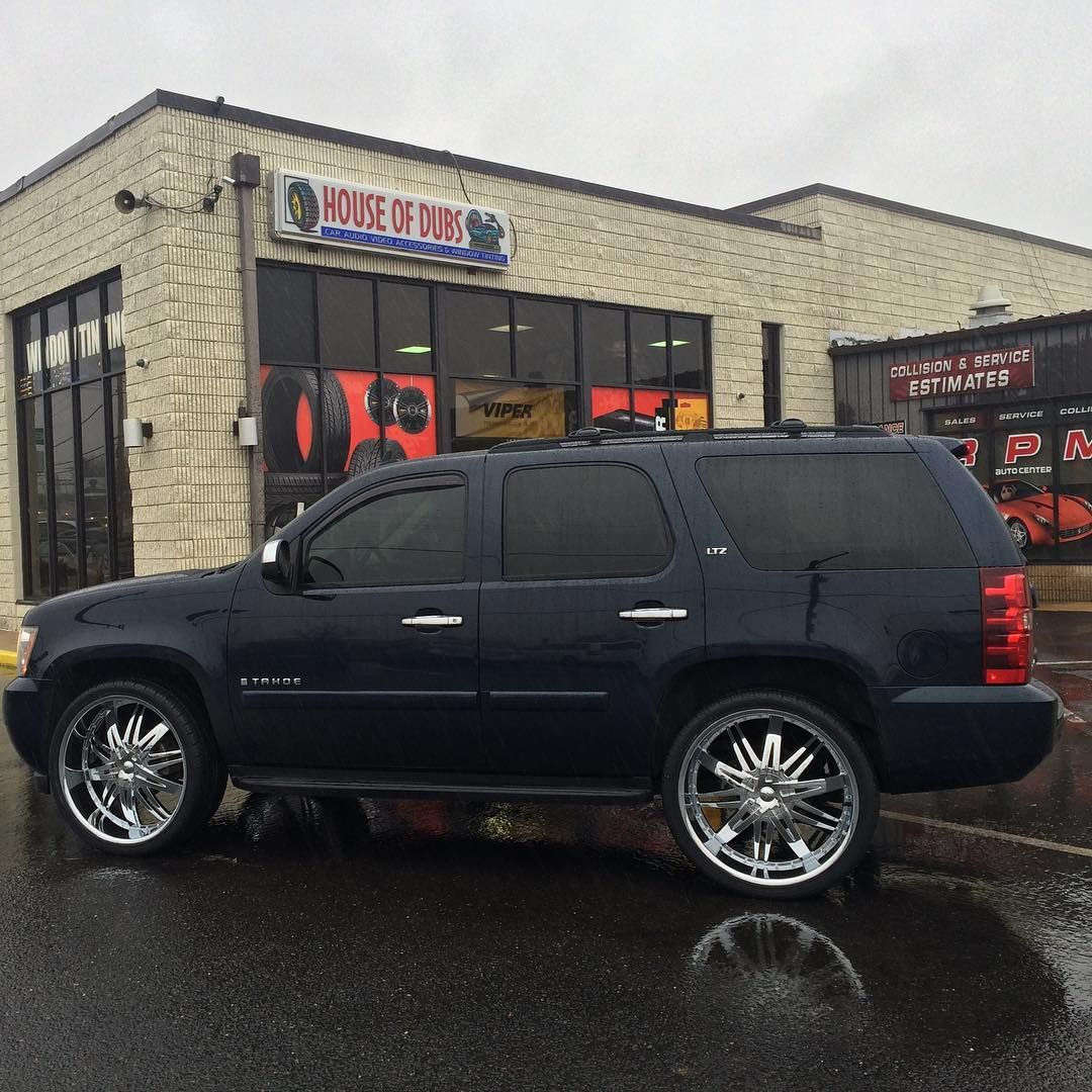 Still Selling Wheels In The Rain 26s On This Chevy Tahoe