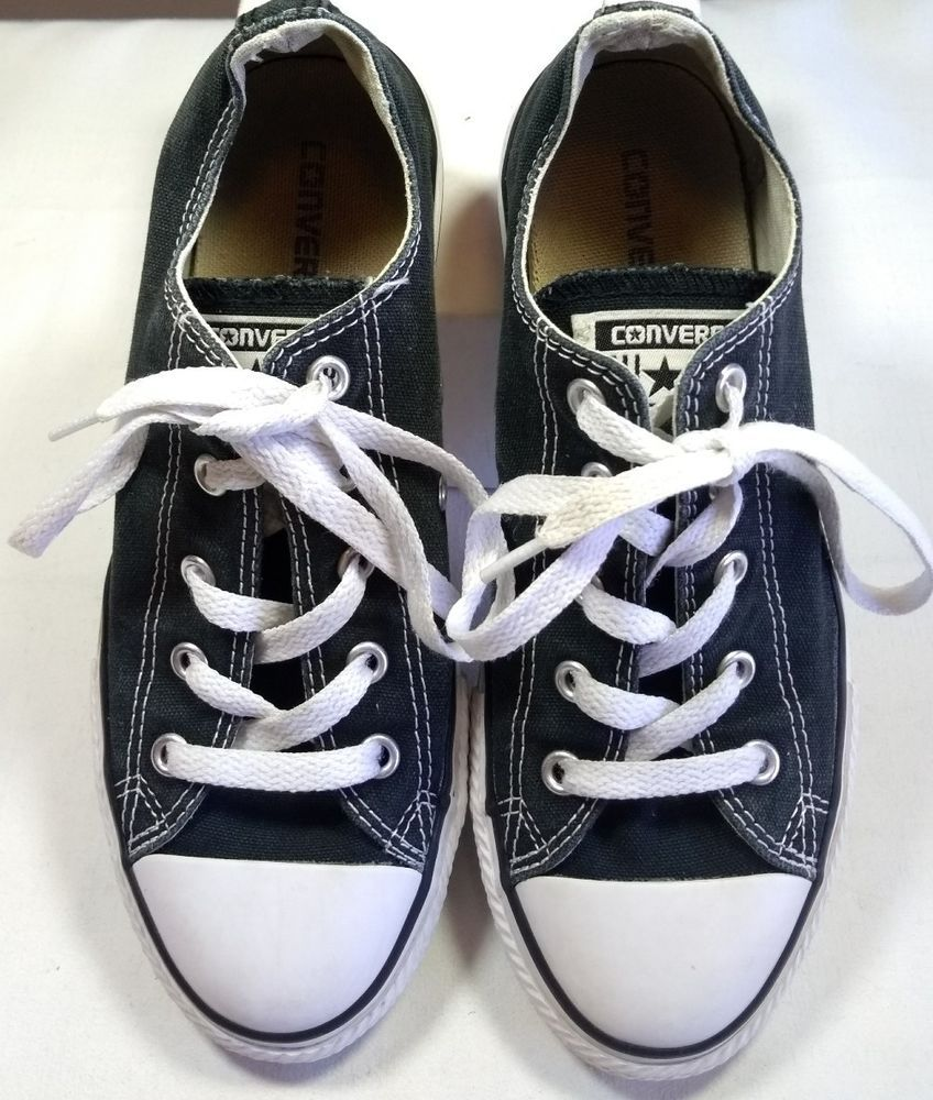 139ff7b8772 Converse All Star Chuck Taylor Black Youth 3 White Traditional Boys Girls # Converse #CasualShoes