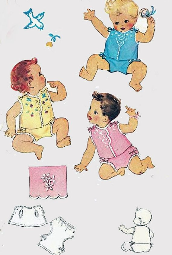 40s Vintage Sewing Pattern McCalls 1489 SWEETEST by sandritocat ...