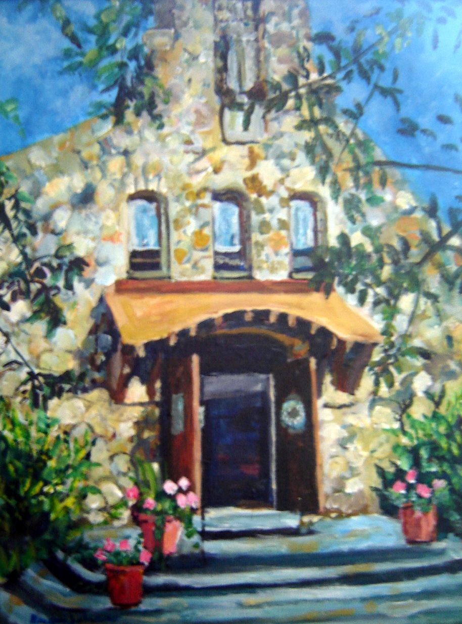 The perfect Bride and Groom gift.... a painting of the church where their marraige took place.