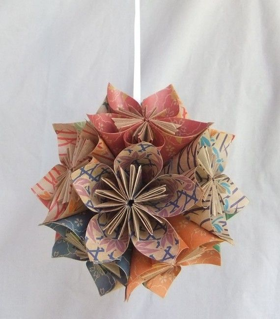 Origami Flower Ornament The Natural Christmas Tree Ornament