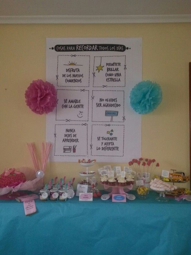 Mi primera sweet table fue para despedir a Carmen.