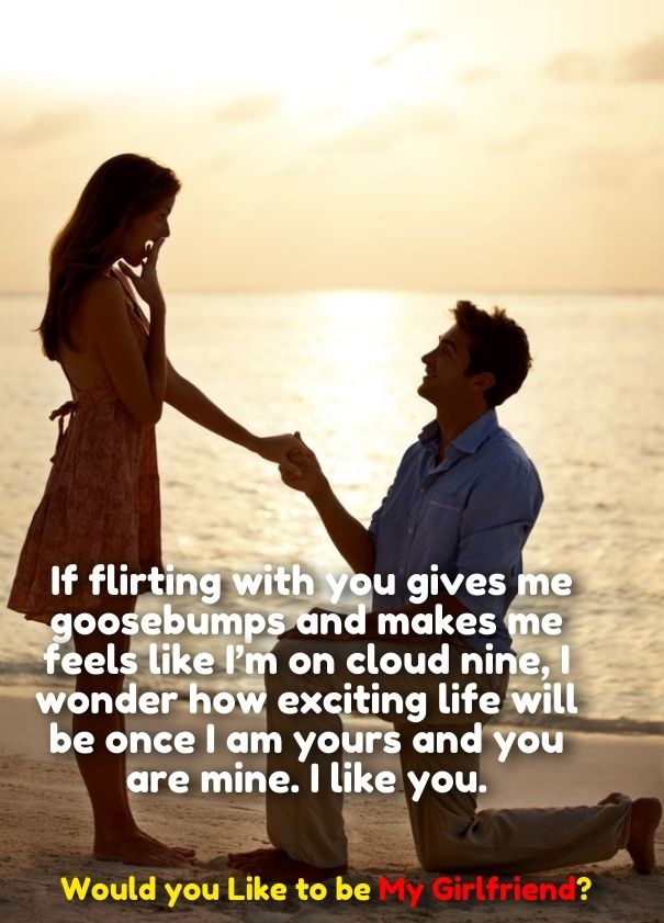 How To Propose A Girl To Be Girlfriend Quotes Cute Love Quotes For