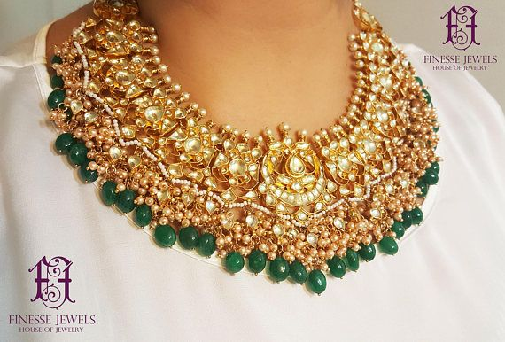 Hand Made Kundan Necklace Sabyasachi Necklace Set Choker Necklace With Jhumka Earrings Indian Jewelery Indian Kundan Necklace Set