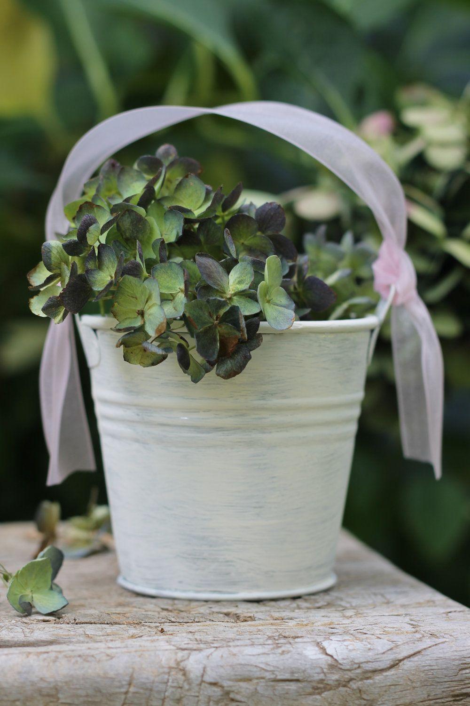 6 favor pails tins buckets for flower girl basket
