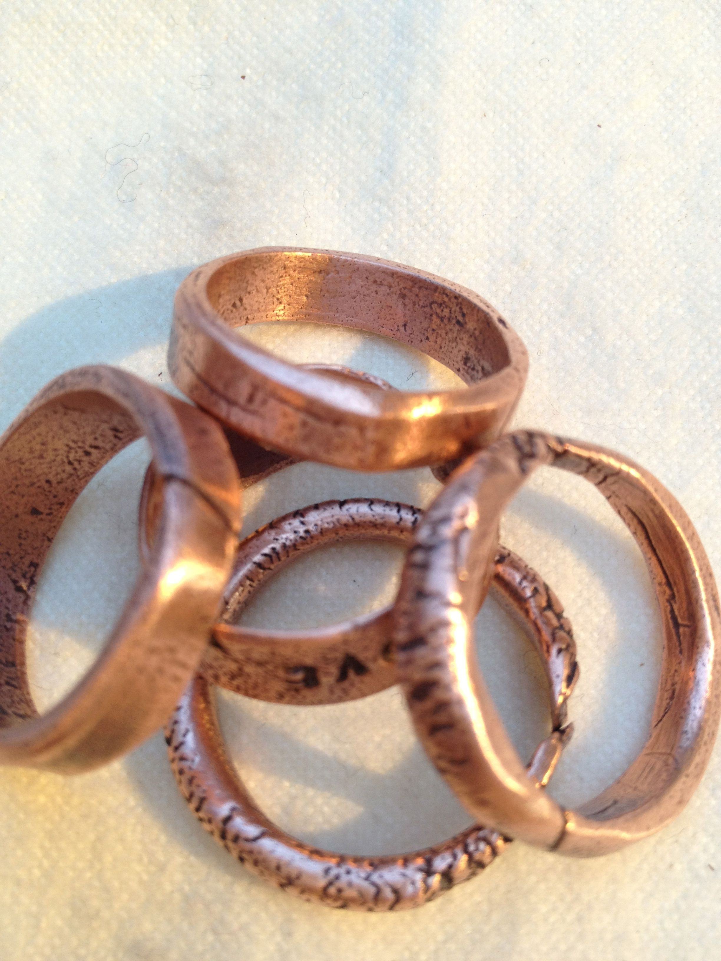 Art Clay Copper rings