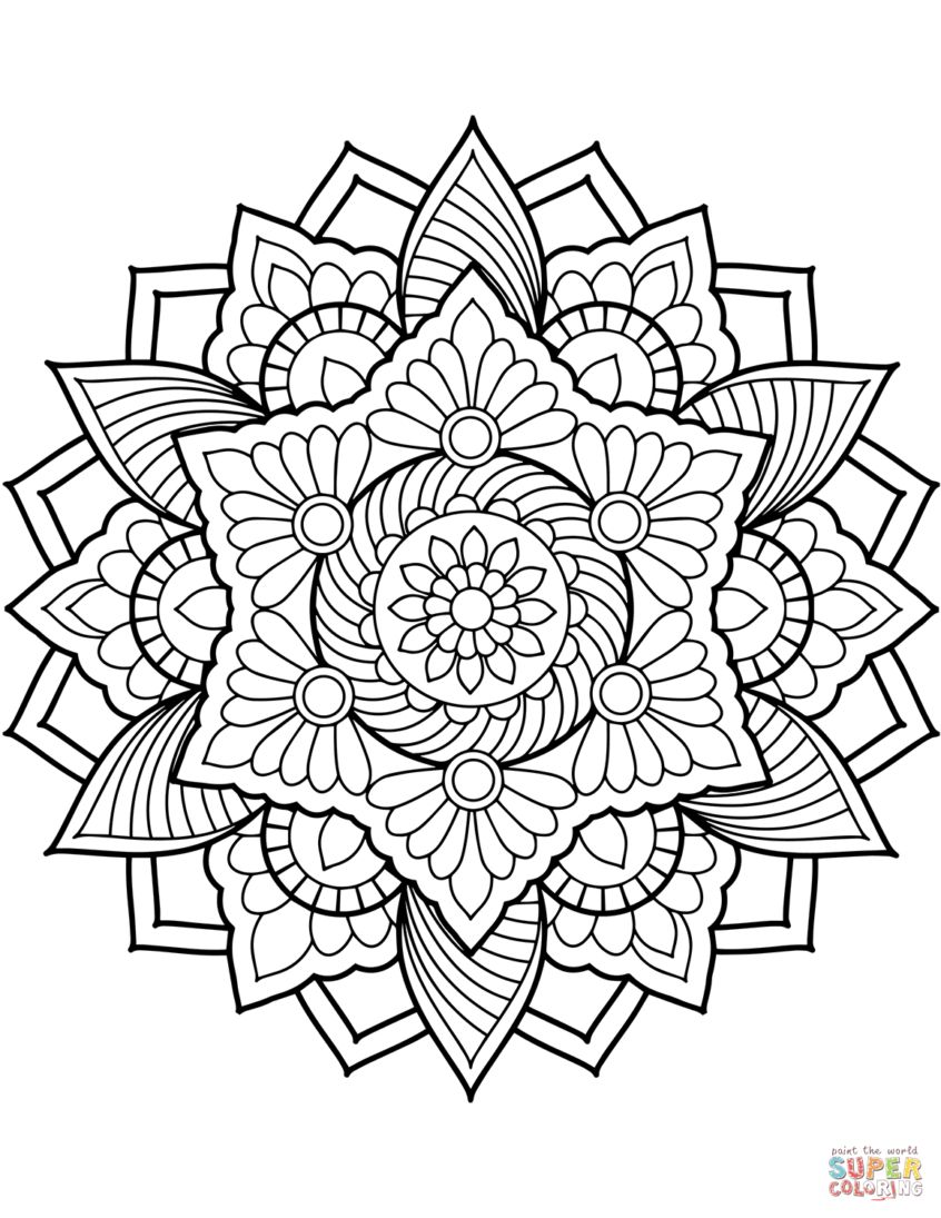 Free Printable Mandala Coloring Pages Coloring Pages Ideas Coloring Pages Ideas Flower Mandala Meaning To Albanysinsanity Com Mandala Coloring Pages Mandala Coloring Books Printable Coloring Book