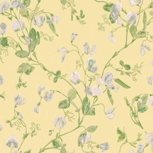 Cole Son Sweet Pea Yellow Wallpaper Wallpaper Tapet Handtryck