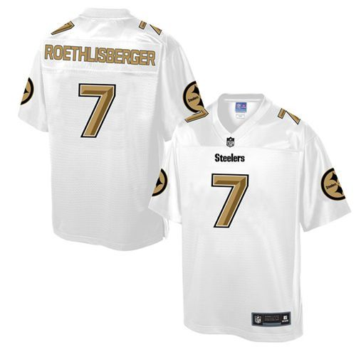 Men s Nike Pittsburgh Steelers  7 Ben Roethlisberger Game White Pro Line  Fashion NFL Jersey 84d2a565d