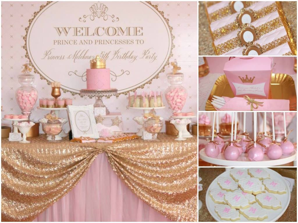 Pink Amp Gold Party Party Ideas Princess Tea Party Baby