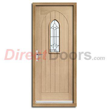 Image Of Westminster Exterior Oak Door And Frame Set With Black