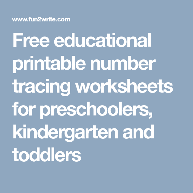 Free educational printable number tracing worksheets for ...
