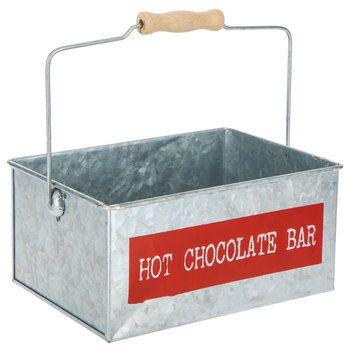Hot Chocolate Bar Metal Bucket #hotchocolatebar