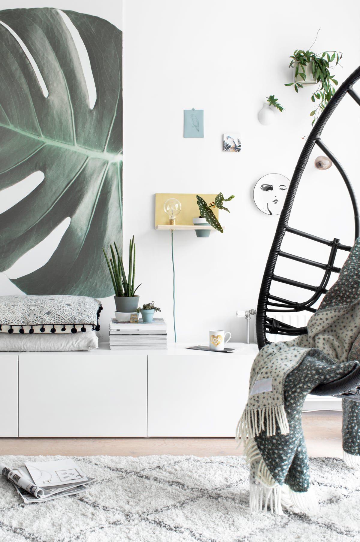 Wandplank Met Lamp.Diy Maak Je Eigen Zwevende Wandplank Met Lamp En Plantje Kussen