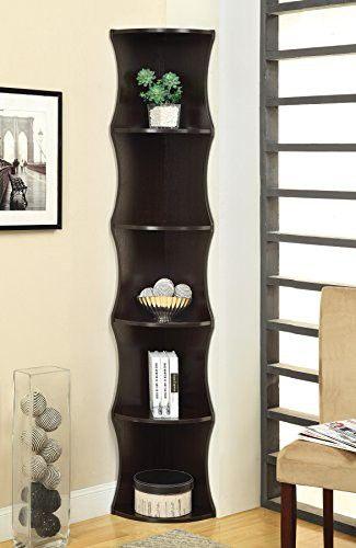 Elegant Coaster Home Furnishings 801182 Casual Corner Shelf, Cappuccino Photo