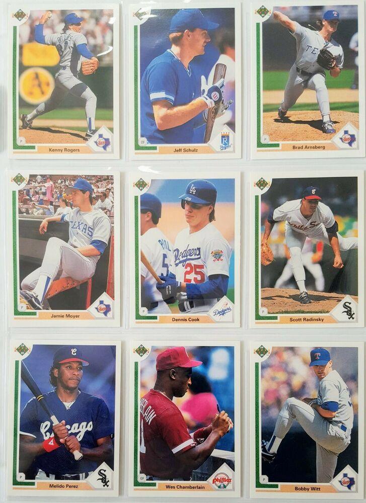 1991 upper deck 9 crisp some consecutive baseball trade