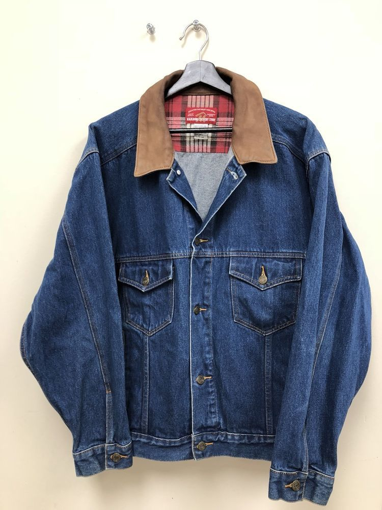 Vintage Marlboro Denim Jacket Size L Free Shipping Ebay Vintage Clothes 90s Denim Jacket Denim Jean Jacket