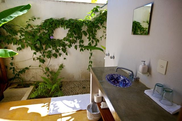 Semi Outdoor Bathroom Sayulita Mexico