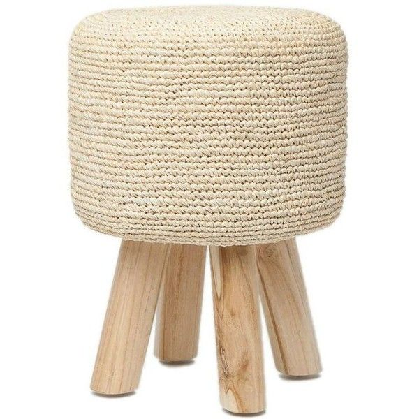 Made Goods Small Luna Raffia Stool ❤ liked on Polyvore featuring ...