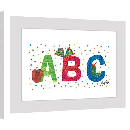 Found it at Wayfair - ABC Letters Framed Painting Print
