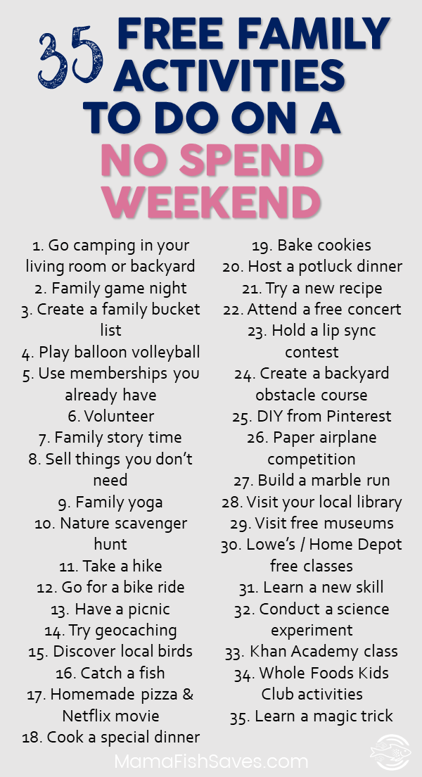 35 Fantastic Free Family Activities For Your Weekend Free Family Activities Family Fun Night Fun Family Activities