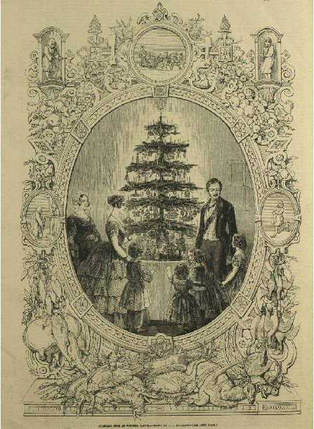 This image of Queen Victoria, Prince Albert and their family was published in the Illustrated ...