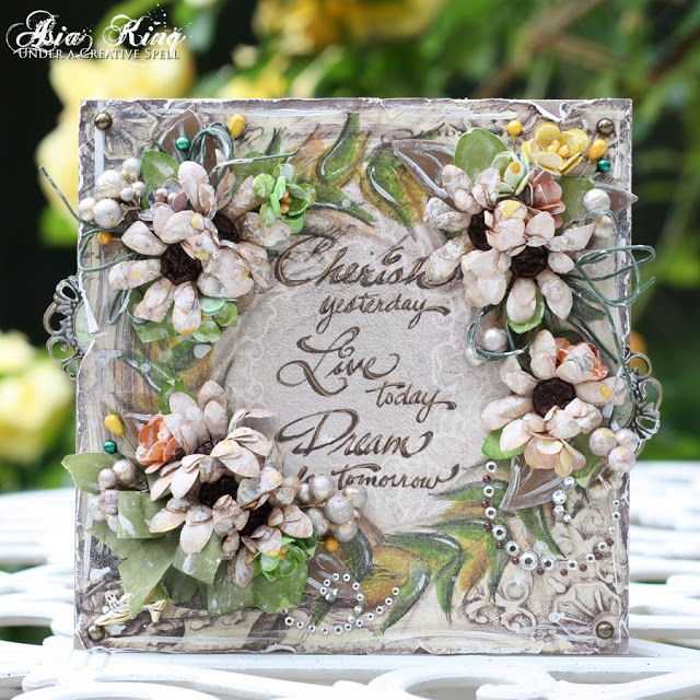 shabby chic vintage flower inspirational card