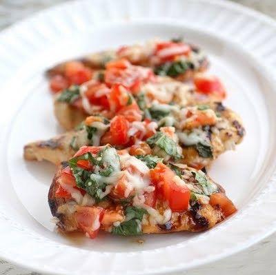 grilled bruschetta chicken.