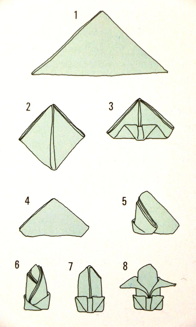 pliage de serviette en fleur de lys diy pinterest napkins origami and manualidades. Black Bedroom Furniture Sets. Home Design Ideas