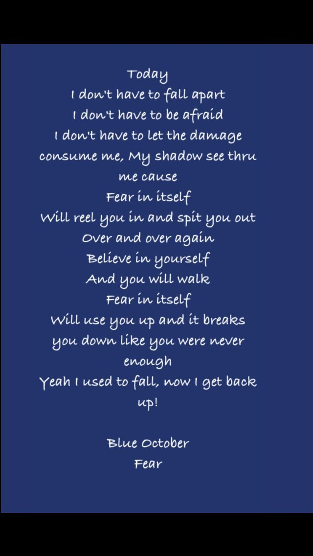 Lyric blue song lyrics : Blue October - The Feel Again (stay) From the CD Any Man In ...