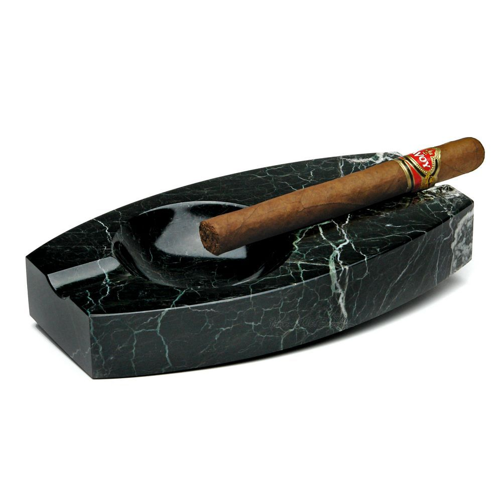 Black Marble Dual Cigar Ashtray Cigar Ashtray Ashtray Home Bar Accessories