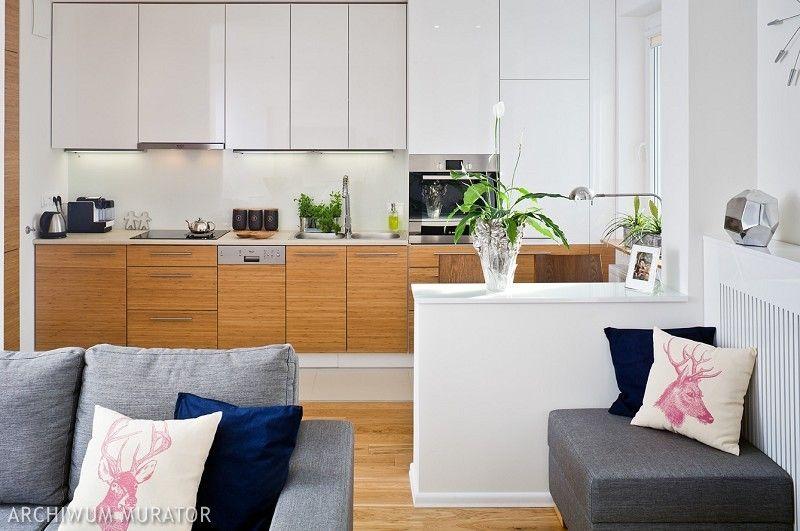 Nowoczesna Kuchnia Otwarta Na Salon 9 Aranzacji Kuchni Z Salonem Muratordom Pl Living Room Kitchen Kitchen Cabinets Home Decor