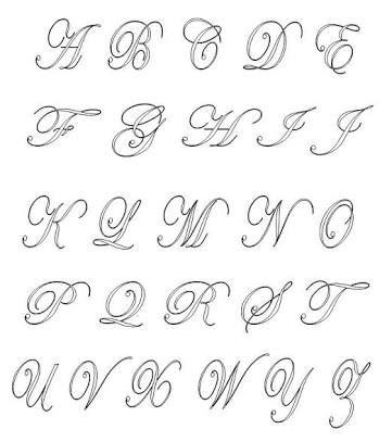 Resultado De Imagem Para Desenhos De Letras Bonitas Do Alfabeto