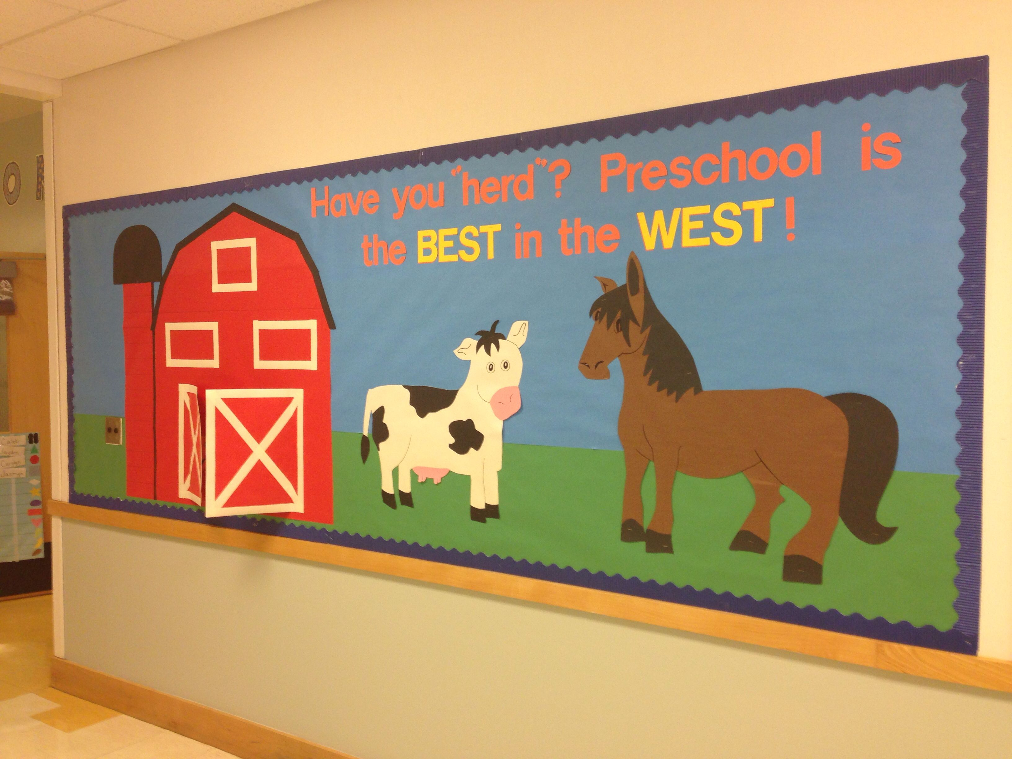 The Farm Themed Bulletin Board I Made For Preschool The