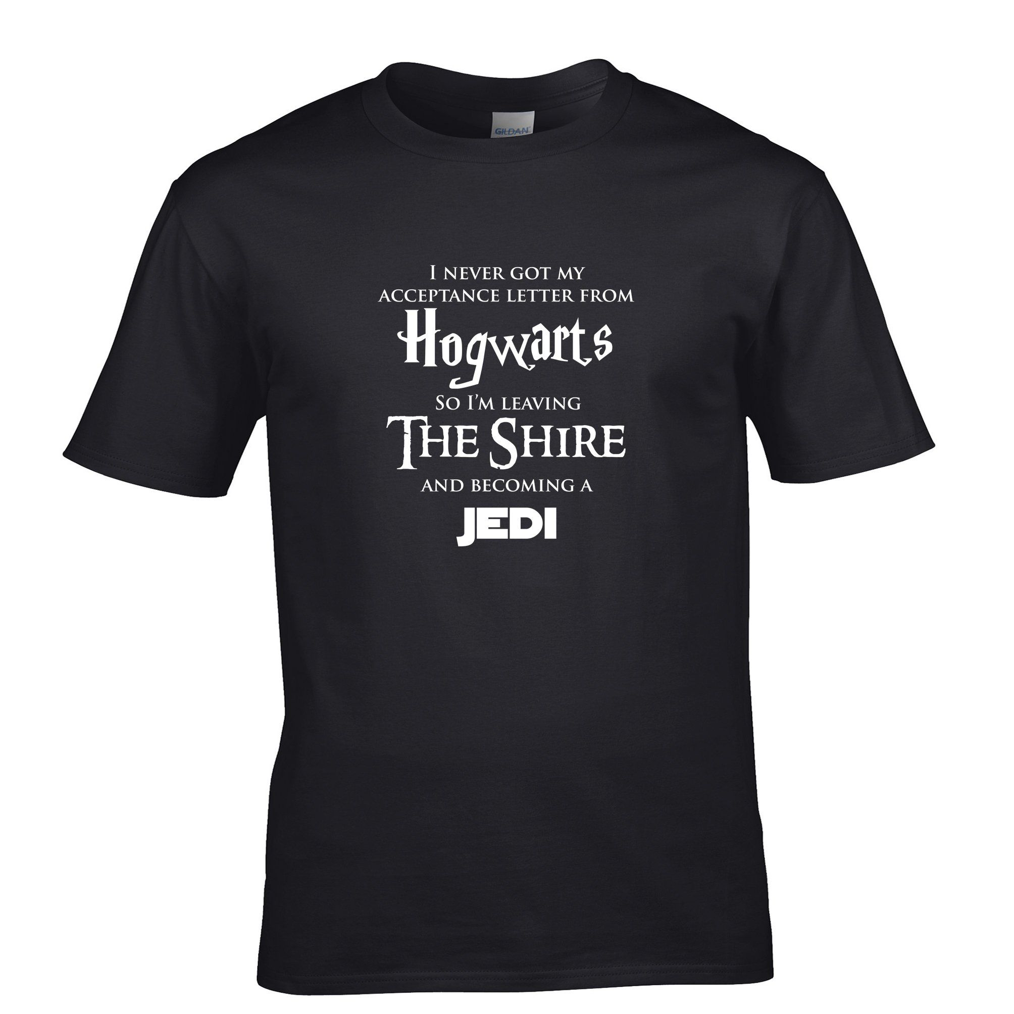 HOGWARTS LOTR JEDI Tshirt Star Wars Hobbit Harry Potter Lord of The Rings