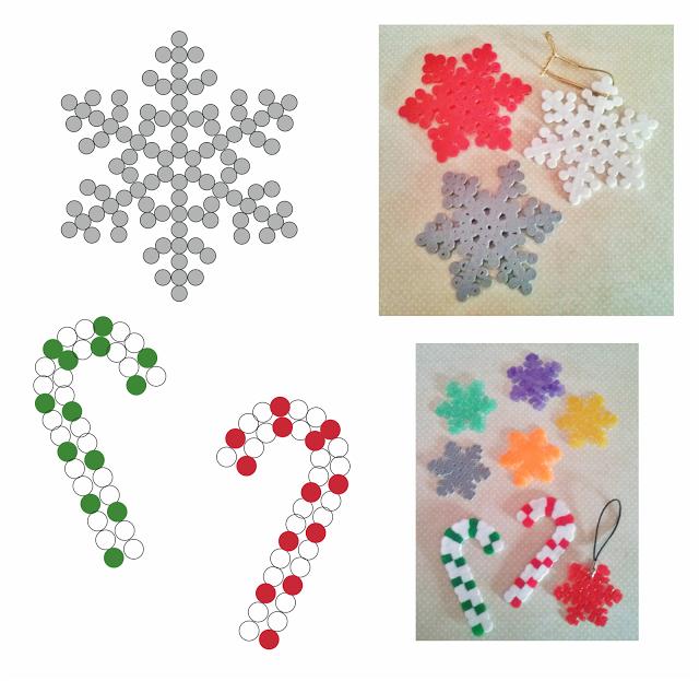 Patrones para hacer adornos con hama beads para Navidad | Hama Beads ...