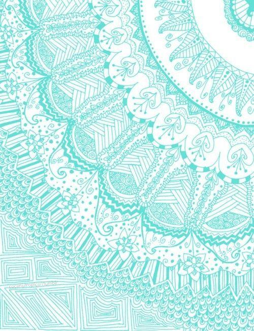 Teal Background Pattern Tumblr - clipartsgram.com | Mandalas