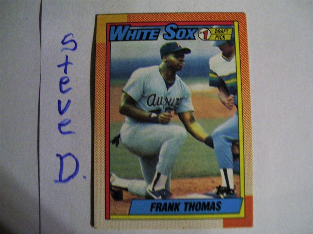 1990 Topps Frank Thomas 414 Rookie Baseball Card