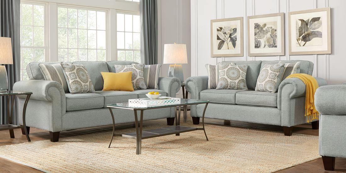 Pennington Blue 2 Pc Living Room Living Room Sets Living Room Furniture Rooms To Go Furniture