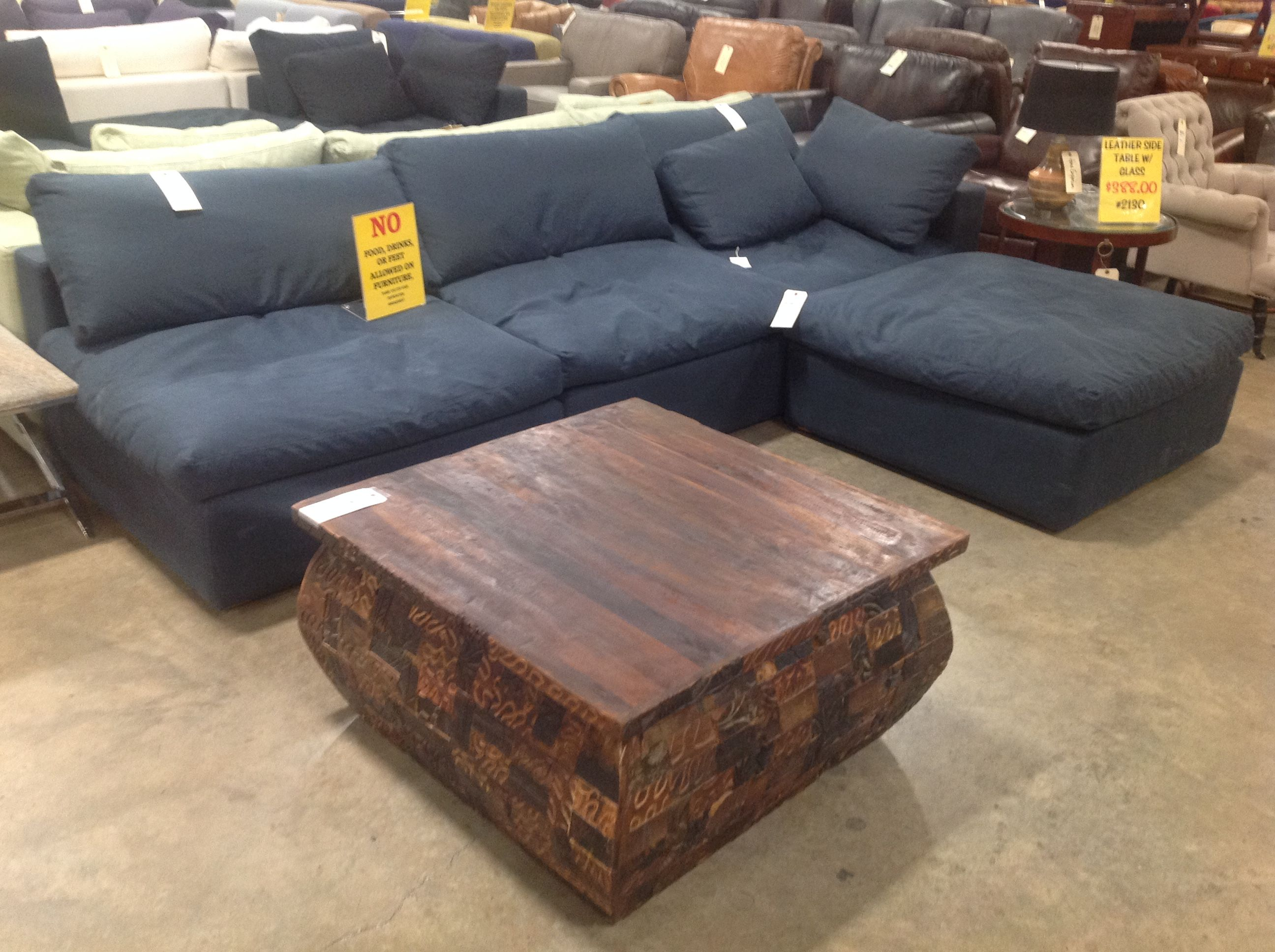 Modular Sectional With A Wood Coffee Table We Sell All Kinds Of
