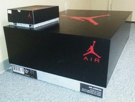 Comparison Of Regular Size Air Jordan Box To GIANT Air Jordan Storage Box