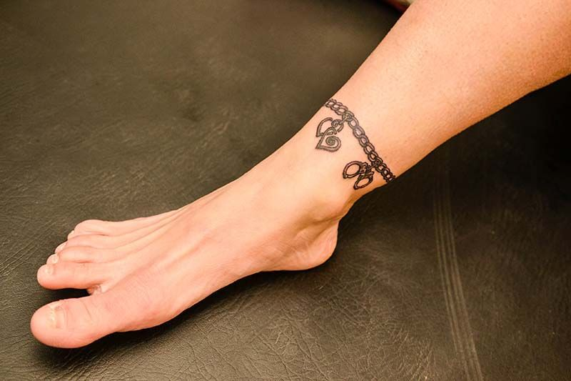 unique tattoos tattoo cute bracelet charm anklet ankle