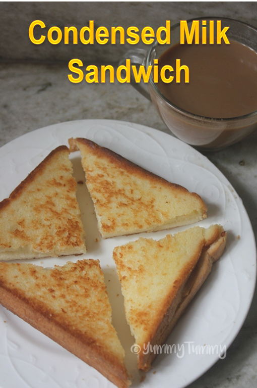 Condensed Milk Sandwich Recipe Milkmaid Sandwich Recipe Recipe Milk Sandwich Milk Recipes Condensed Milk Recipes