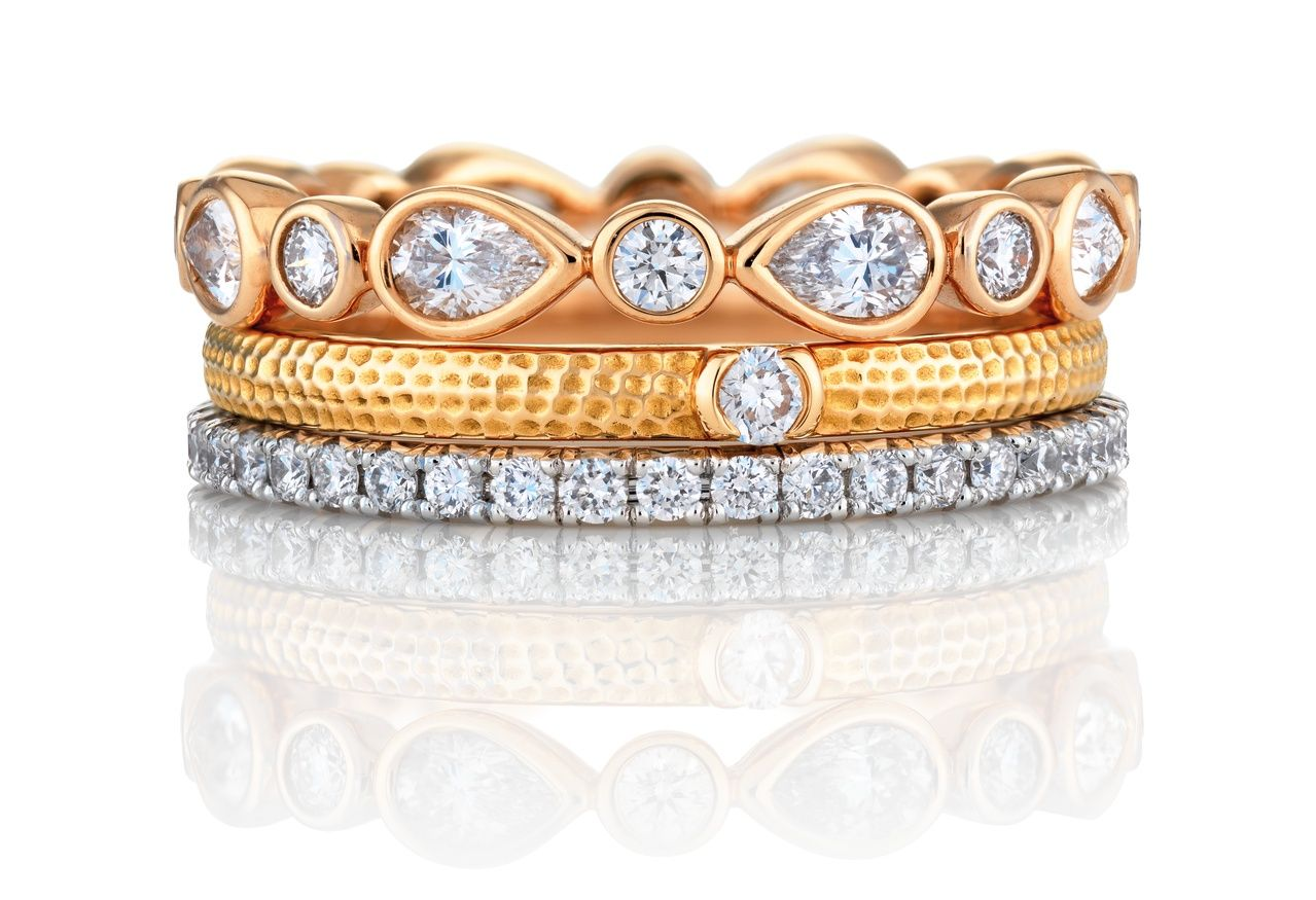 Motherus day gift ideas stacks of sparkle diamond bands from de