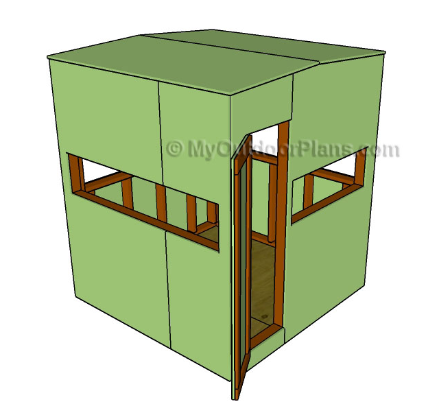 9 free diy deer stand plans free deer stand plan from my for Free ladder stand plans
