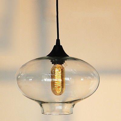 NUEVO Lámparas Colgantes De Cristal Retro Moderna Cocina Barra Café - lamparas de techo modernas