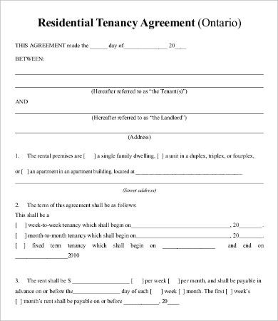 Contract Templates For Word Lease Agreement Templates  10 Printable Word & Pdf Formats .