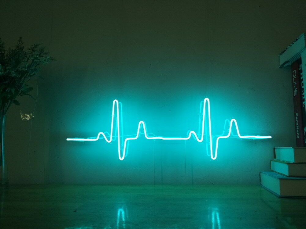New Ecg Electrocardiogram Neon Sign For Bedroom Wall Home Decor Art With Dimmer Ebay Neon Sign Bedroom Neon Wall Signs Neon Room